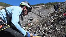 Ir al VideoLos equipos de rescate empiezan a abrir una vía terrestre en los Alpes para acceder al avión