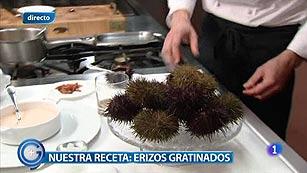 Más Gente - Más Cocina - Erizos gratinados