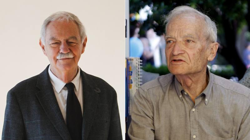 Los escritores Eduardo Mendoza y Luis Goytisolo.