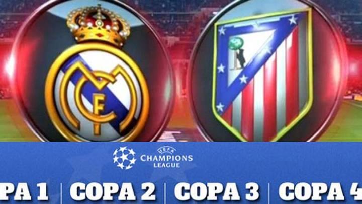Escudos del Real Madrid y el Atlético de Madrid