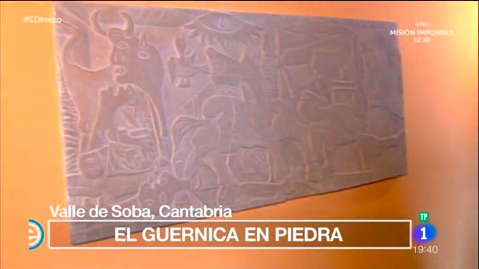 Espa a directo el guernica en una escultura de piedra - El tiempo en guernika ...