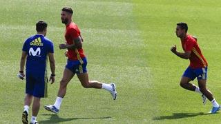 España prepara el encuentro ante Macedonia