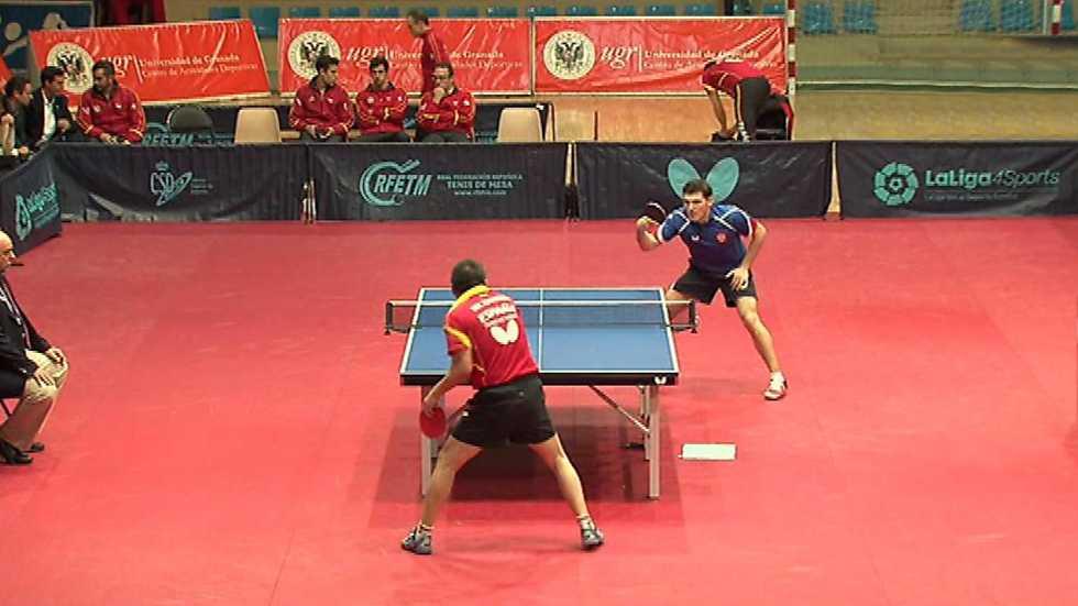 """Tenis de mesa - España - Rusia. Partido homenaje a He Zhiwen """"Juanito"""""""