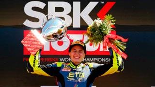 La española Ana Carrasco, primera mujer en ganar una carrera del Mundial de Superbike