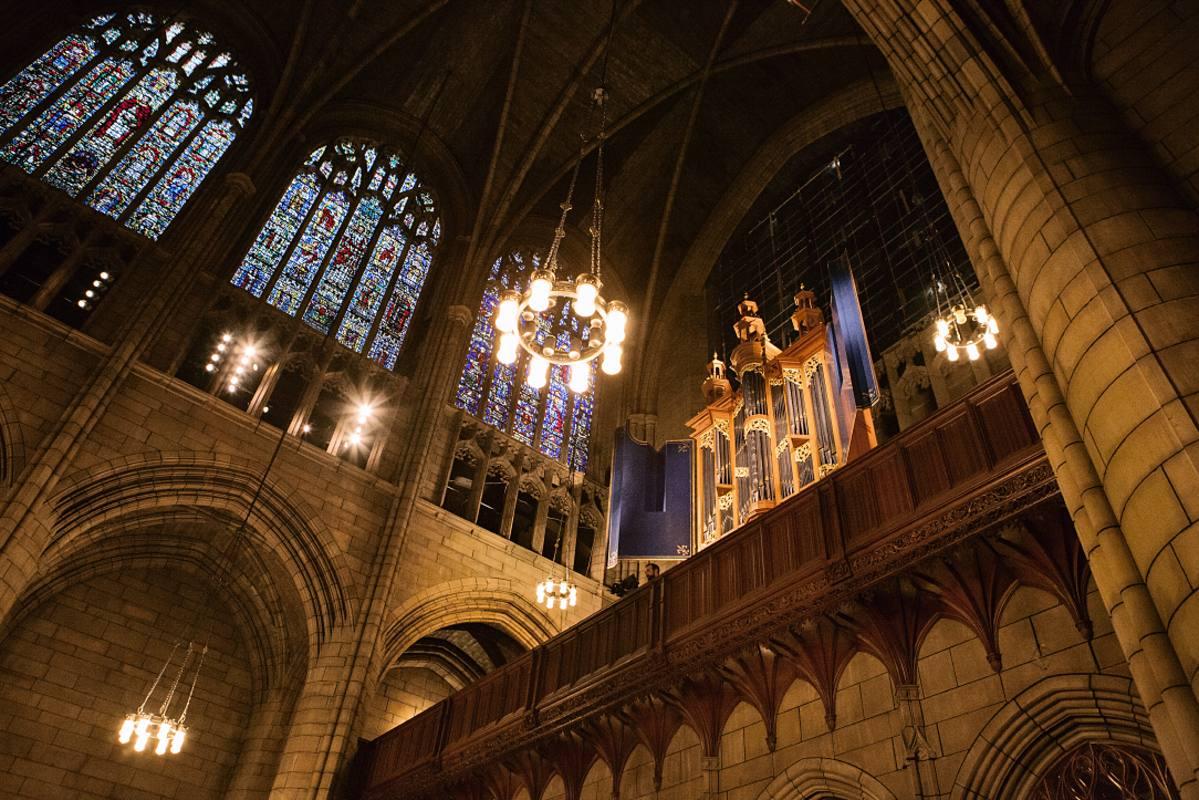 Las espectaculares bóvedas de la catedral de San Juan el Divino, en Nueva York