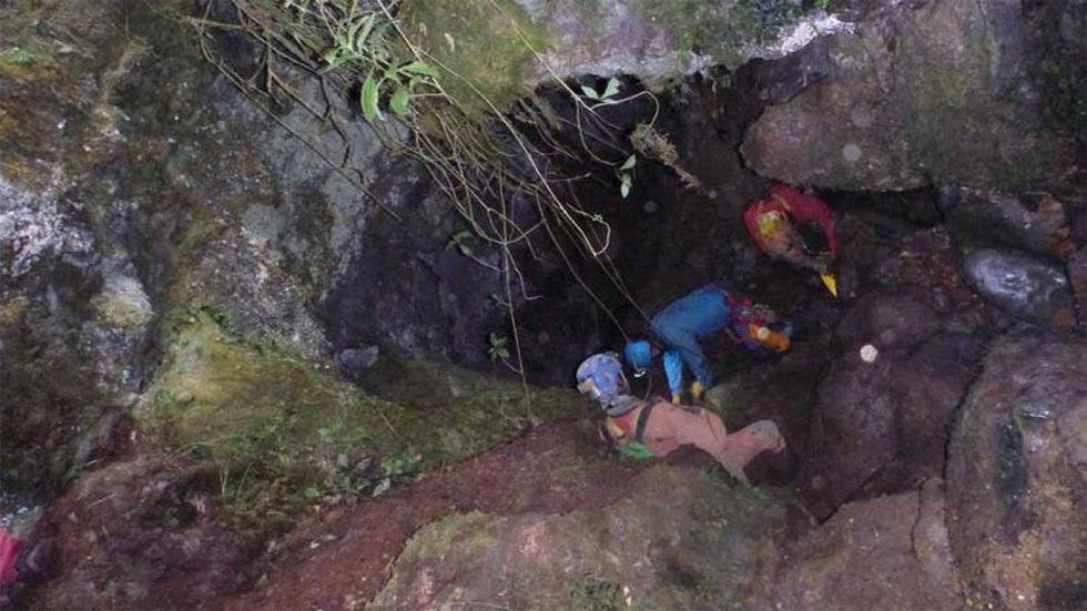 Un espeleólogo fallece en una gruta de Bizkaia