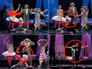 Eurovisión 2010 - Un espontáneo sabotea a Diges