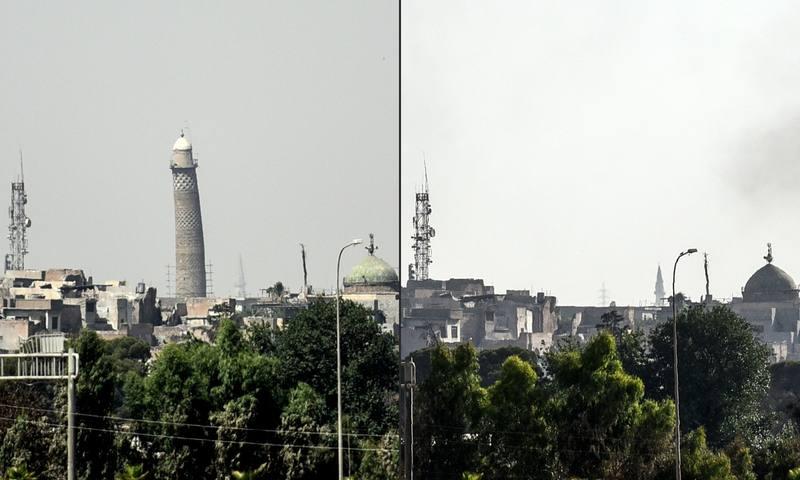 Las tropas iraquíes reconquistan la simbólica mezquita de Mosul donde el Dáesh proclamó su califato 1498732551576