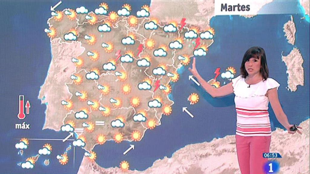 Este martes habrá lluvias localmente fuertes en Cataluña y este del Sistema Ibérico