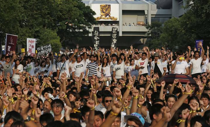 Estudiantes de varias universidades desafían en Hong Kong el poder del Partido Comunista chino.