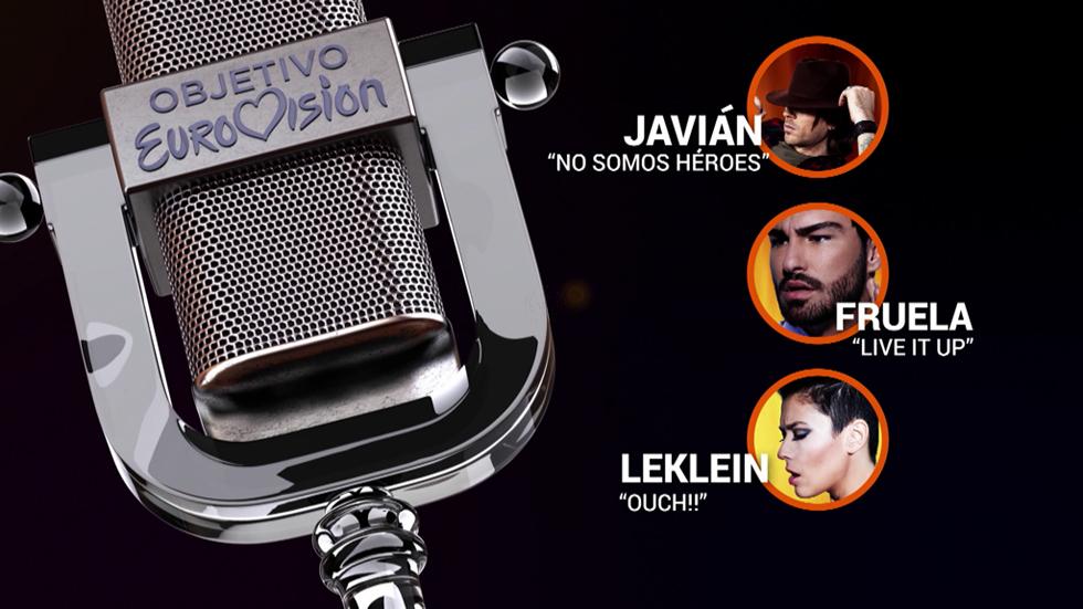 #Eurocasting de RTVE.es: Leklein, Fruela y Javián participan este jueves en la final de la fase web