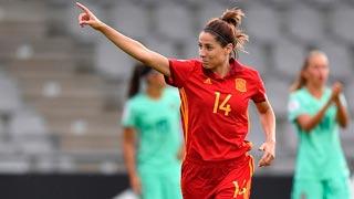 Eurocopa (f) | Vicky Losada pone por delante a España (1-0)