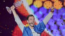 Måns Zelmerlöw celebra el triunfo de Suecia en Eurovisión