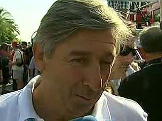 Eusebio Unzué (Movistar) celebra el triplete