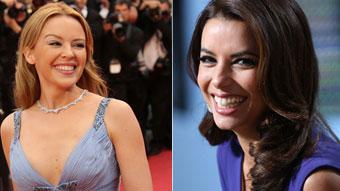 Eva Longoria y Kylie Minogue en los premios Glamour
