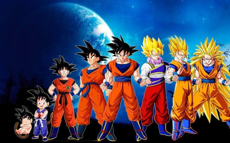 La evolución de Son Goku