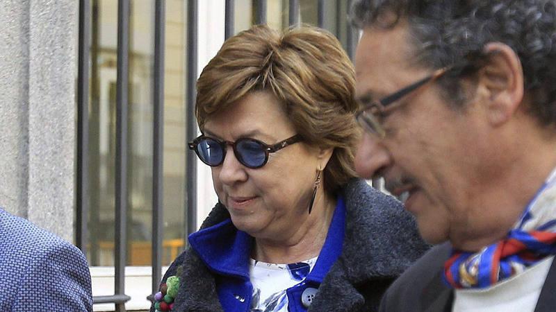 La exalcaldesa de Cartagena, Pilar Barreiro, senadora del PP llega al Supremo