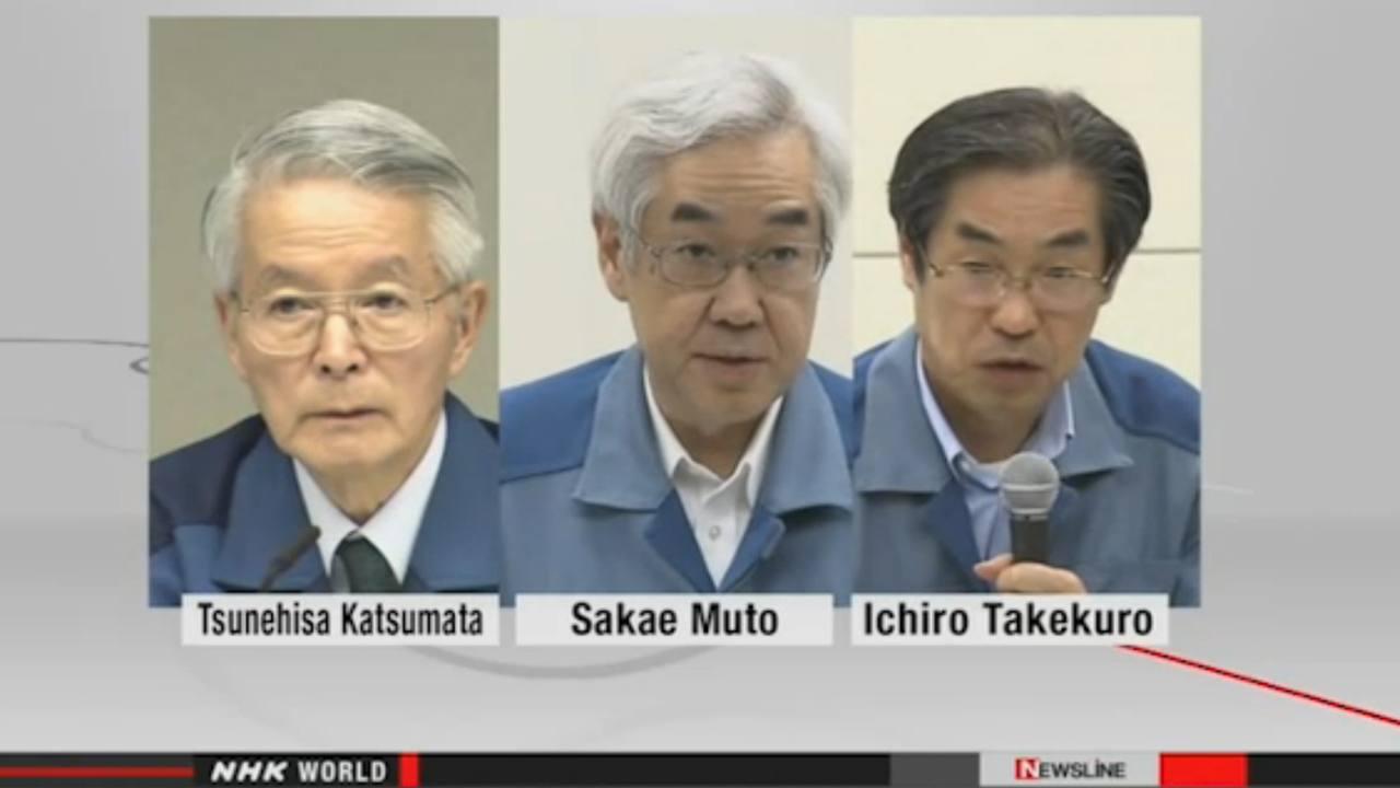 Exdirectivos de TEPCO que serán imputados por el accidente nuclear de Fukushima