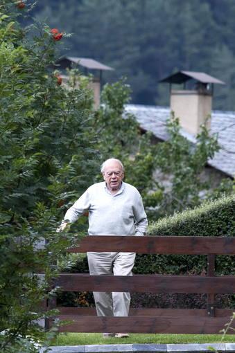 El expresidente de la Generalitat Jordi Pujol, en su residencia veraniega en Queralbs (Girona).