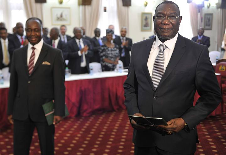Los expresidentes Michel Djotodia (derecha) y François Bozize (derecha) se han reunido en Nairobi (Kenia).