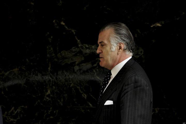El extesorero del PP Luis Bárcenas saliendo de la Audiencia Nacional, en una imagen de marzo de 2013