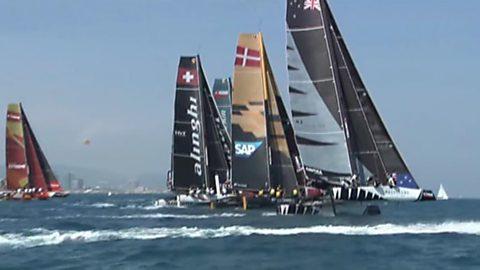 Vela - Extreme Sailing Series. Prueba Barcelona 2017