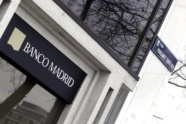 Fachada del Banco Madrid, filial del banco andorrano Banca Privada d'Andorra (BPA)
