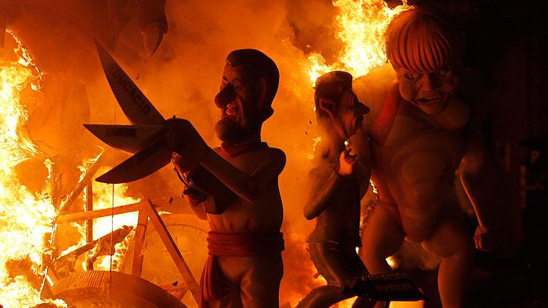 Fallas de Valencia 2012. Nit de la Cremá