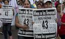 Fotogaleria: Manifestación cinco meses después de la desaparición de los 43 estudiantes