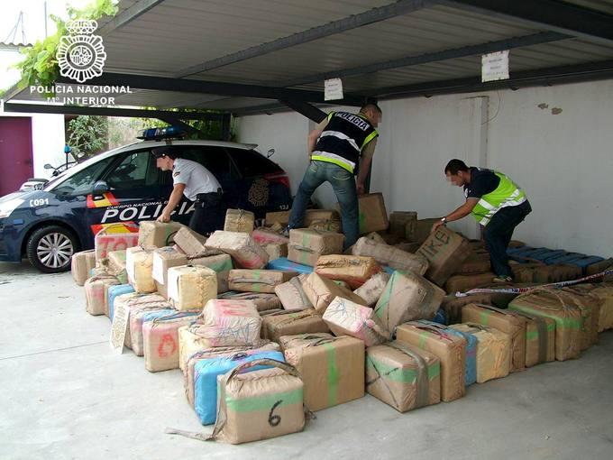 La policia nacional interviene kilos de hach s en - Policia nacional cadiz ...