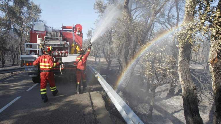 El incendio de Girona está en fase de control aunque no extinto