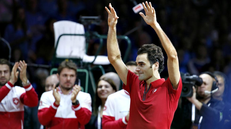 """Federer: """"Esta Davis no es para mí, es para Suiza"""""""