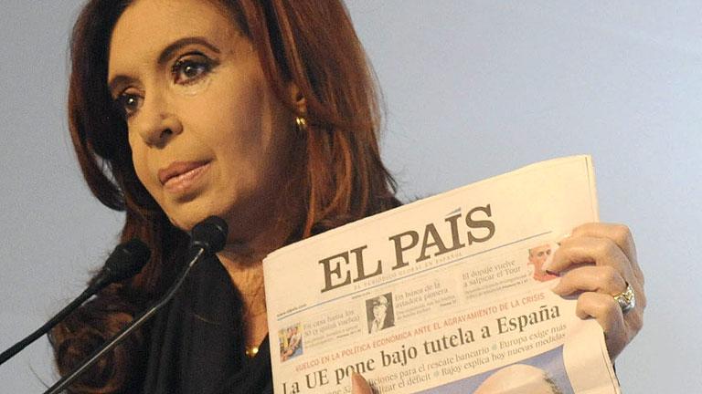 """La presidenta argentina dice que se """"atragantó"""" al leer sobre la crisis española"""