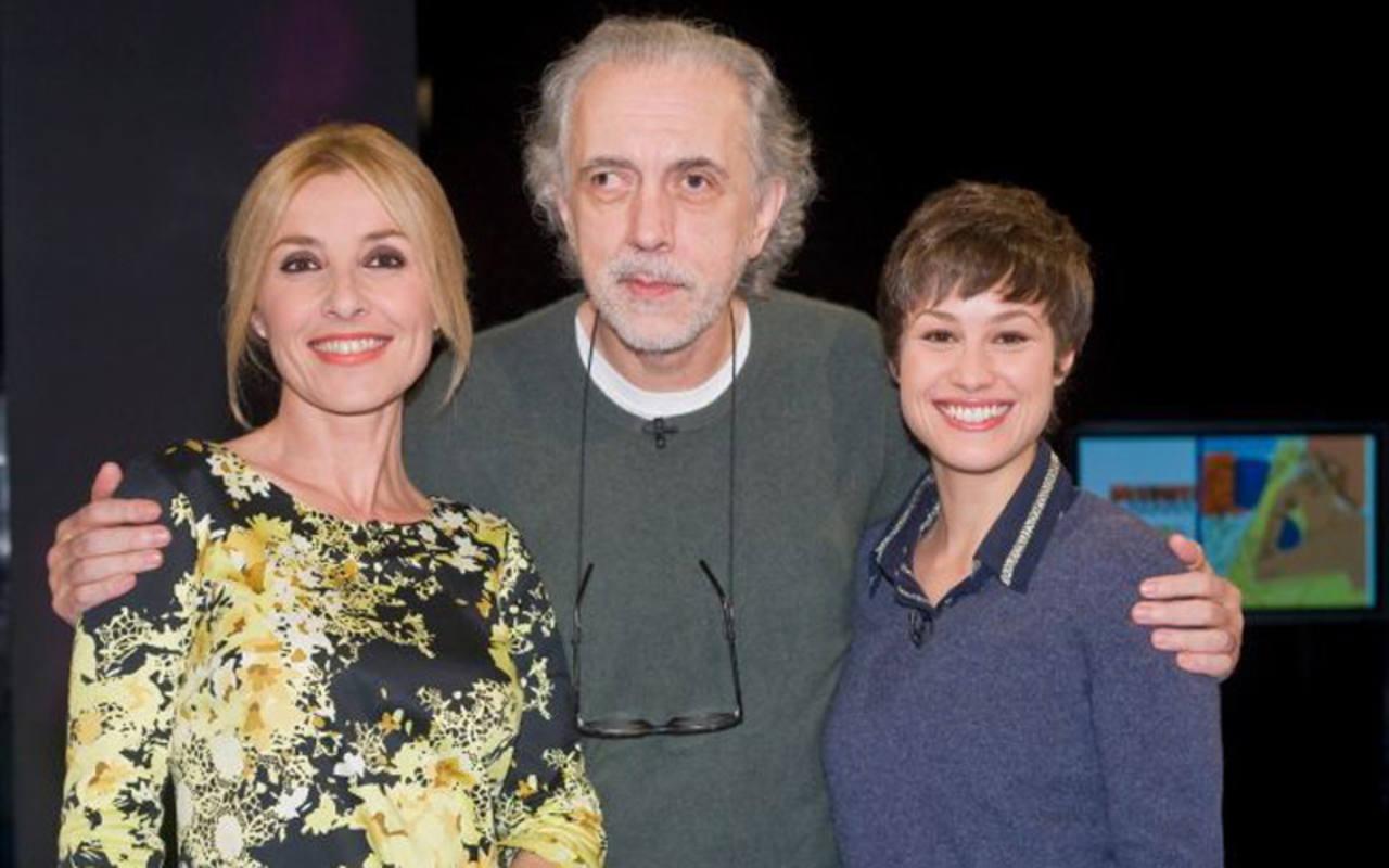 Fernando Trueba y Aida Folch con Cayetana Guillén Cuervo