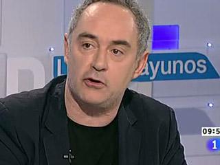 Ferrán Adrià asegura que el problema de los españoles es de 'confianza' en Los desayunos de TVE