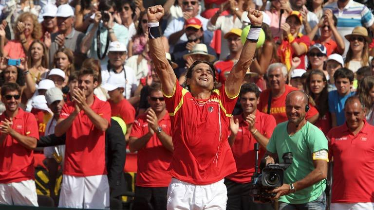 Ferrer logra el punto que pone a España en su novena final de Copa Davis