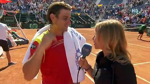 """Ferrer: """"Ha sido un partido muy duro, pero he estado bien de cabeza"""""""