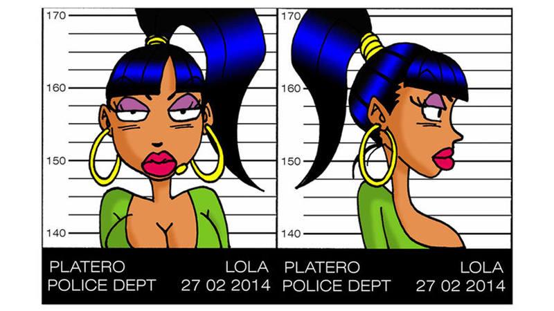 Ficha policial de Lola la poligonera