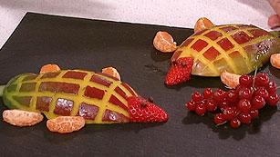 Saber Cocinar - Postres - Figuritas a base de frutas