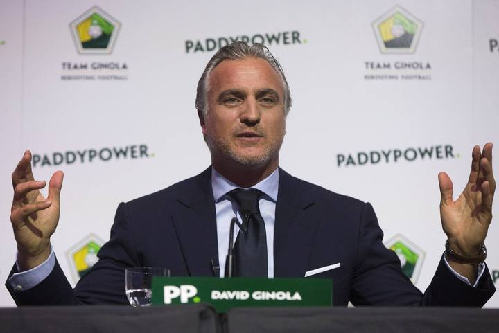 File photo of former footballer Ginola from France at a news conference where he announced his campaign to stand for the FIFA presidency in London