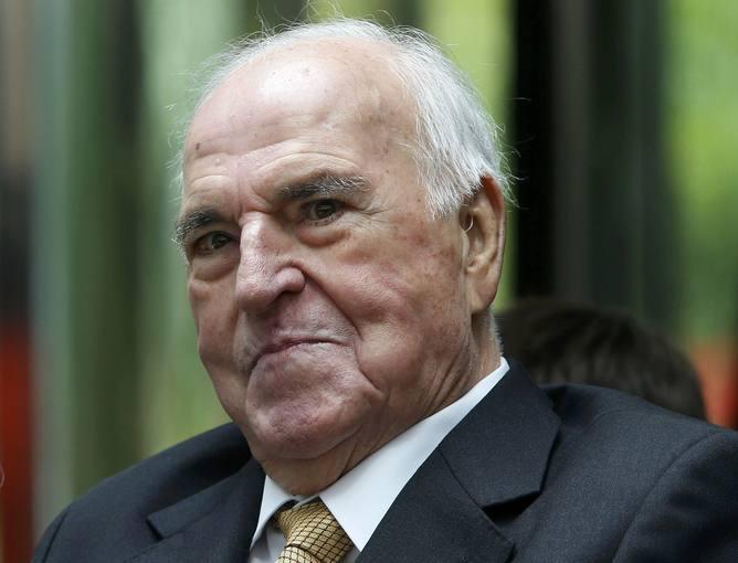 File photo of former German chancellor Helmut Kohl