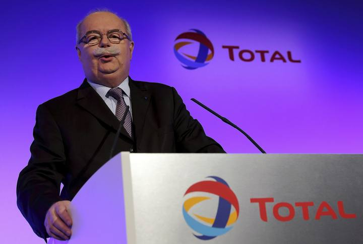 File picture of Total SA CEO Christophe de Margerie speaks at the company's result presentation in Paris