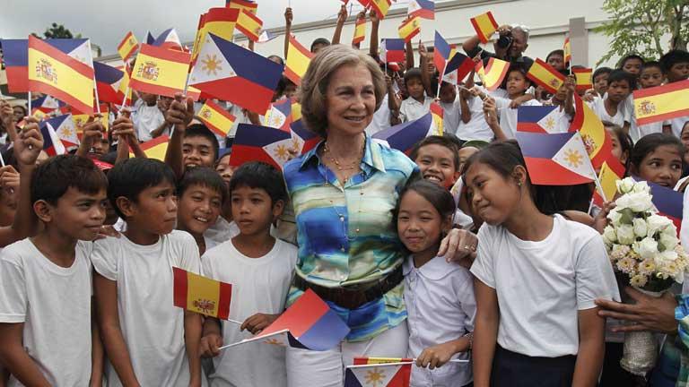 Filipinas volcada con la Reina Sofía