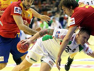 El final del partido España 24-24 Hungría