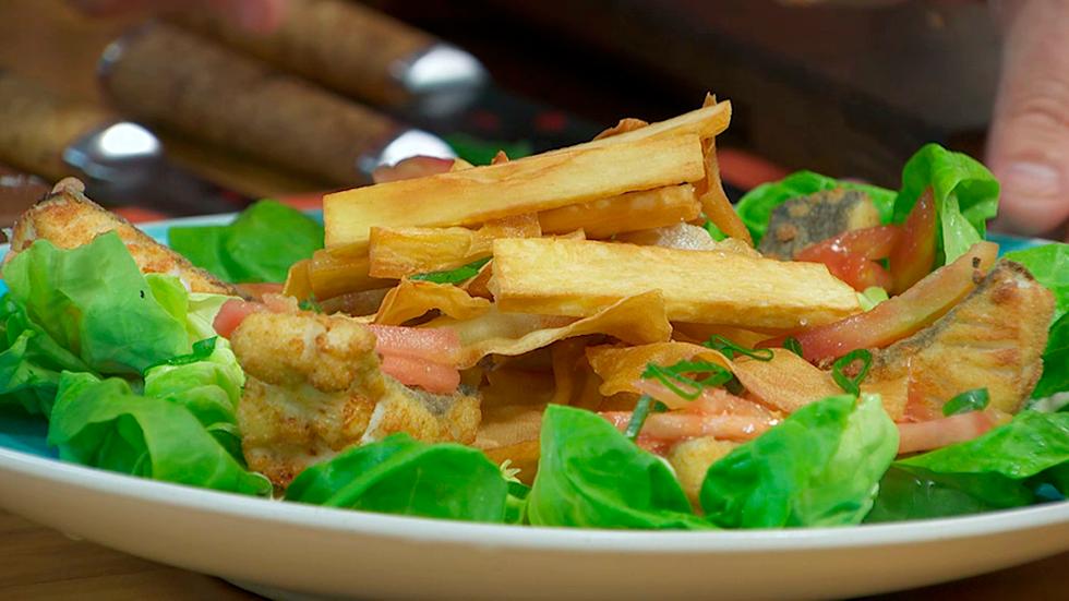Torres en la cocina - Fish and chips de yuca