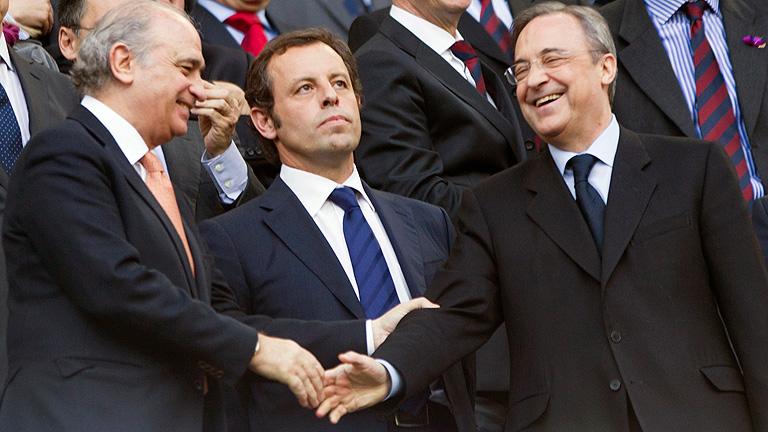 Florentino felicita al Barça