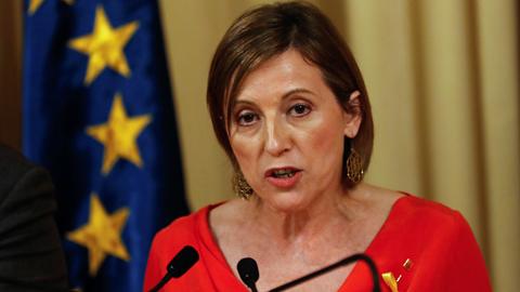 """Forcadell promete defender el Parlament del """"golpe"""" de Rajoy"""