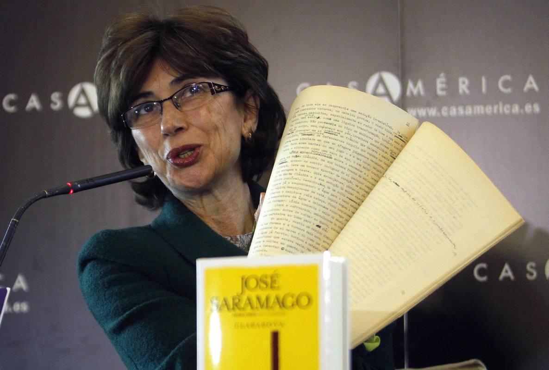 Fotografía de 2012 de la periodista y traductora Pilar del Río, viuda del premio Nobel José Saramago.