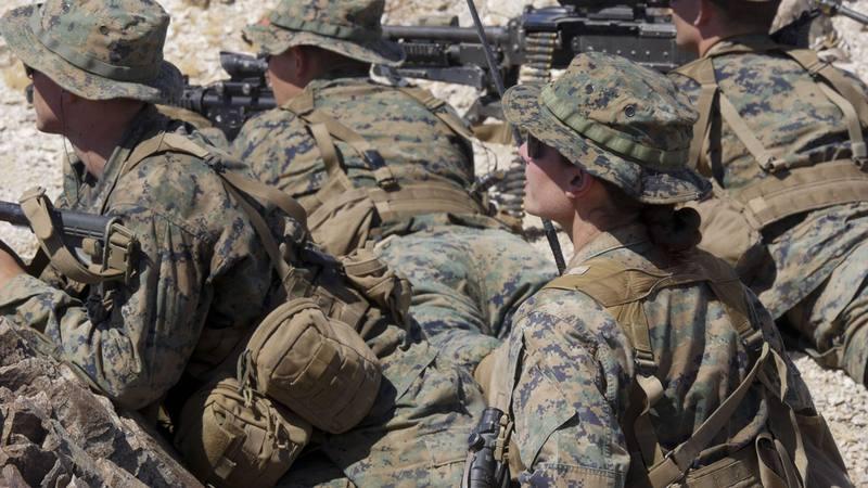 Fotografía de archivo de tropas militares estadounidenses