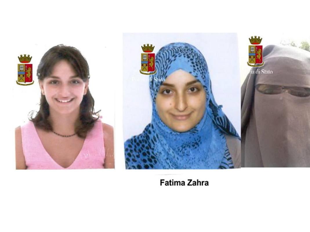 Fotografías distribuídas por la Polizia di Stato italiano que muestran el cambio de Maria Giulia Sergio. POLIZIA DI STATO/ Corriere della Sera